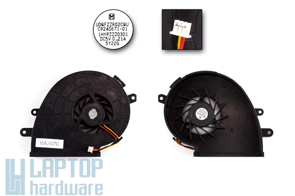 Fujitsu-Siemens LifeBook N6120, N6220 gyári új laptop hűtő ventilátor (UDQFZZR02CQU)