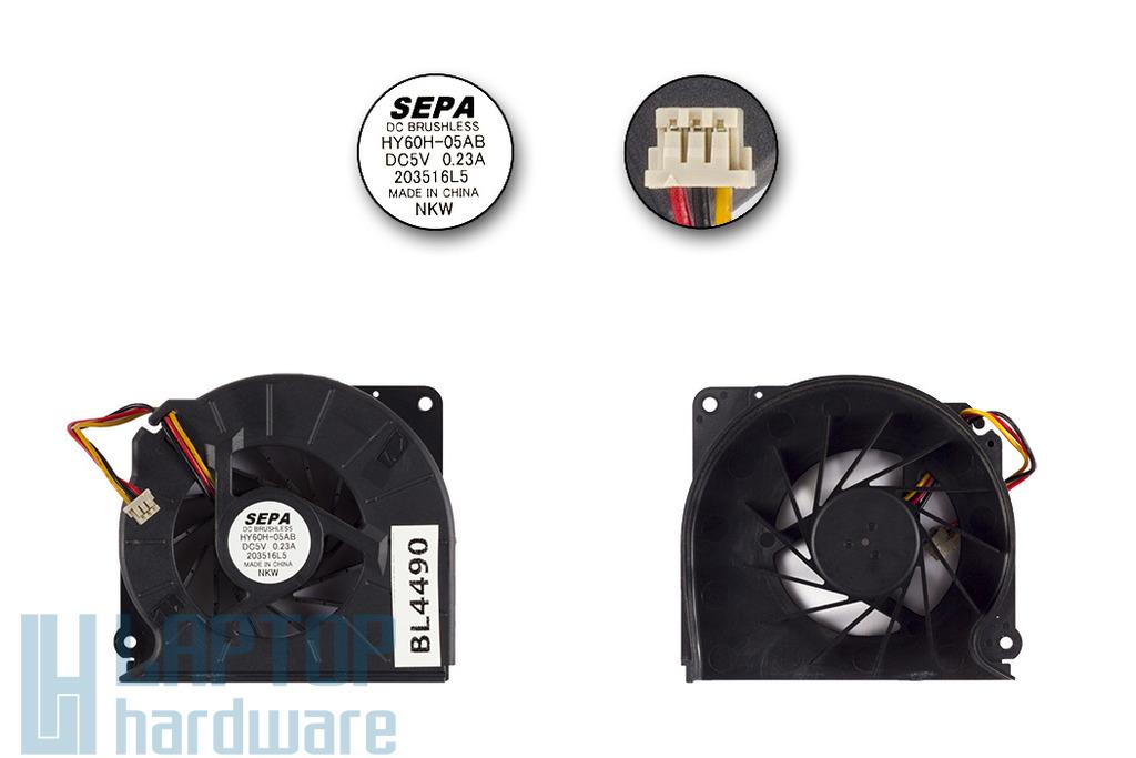 Fujitsu-Siemens LifeBook P701 gyári új laptop hűtő ventilátor (203516L5)