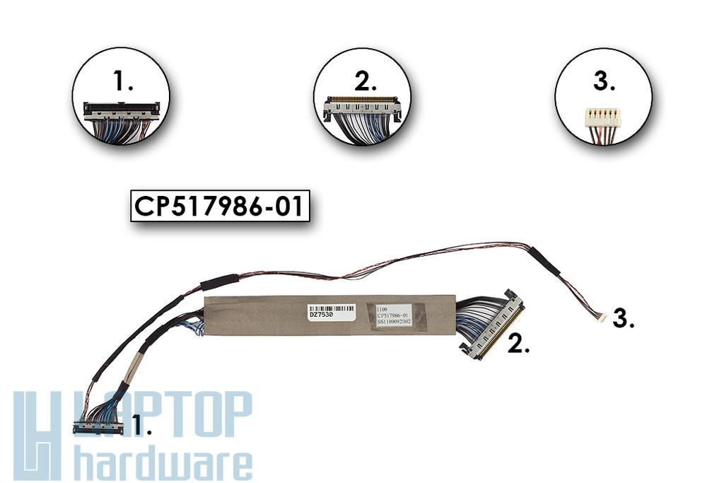 Fujitsu Siemens Lifebook P701, P771 laptophoz gyári új LCD kábel (CP517986-01)