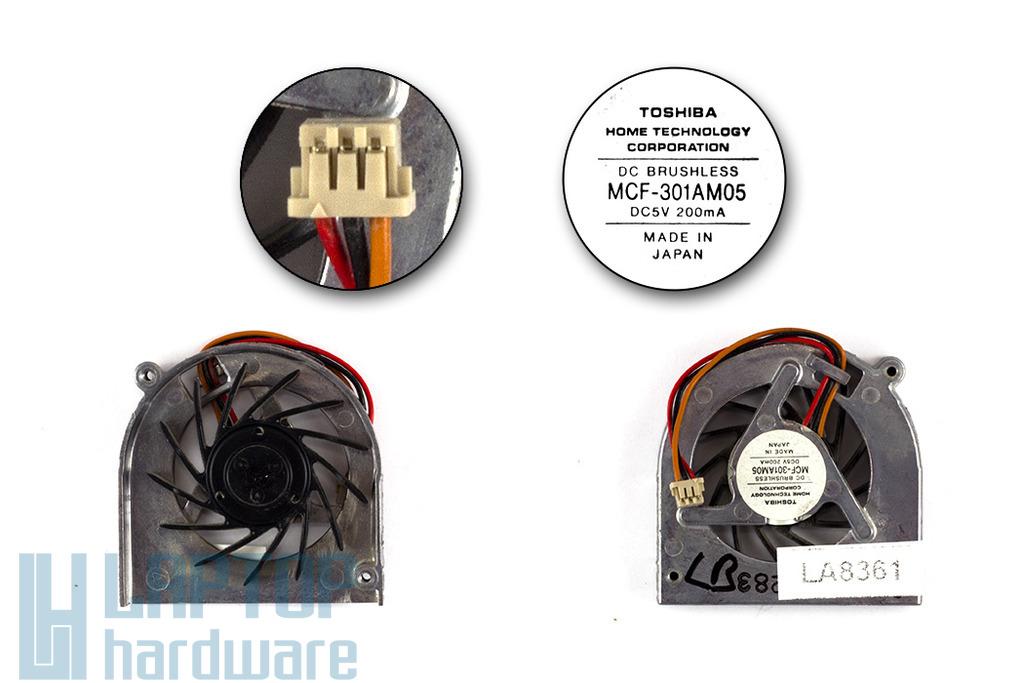 Fujitsu-Siemens LifeBook P7010, S6310 használt laptop hűtő ventilátor (MCF-301AM05)