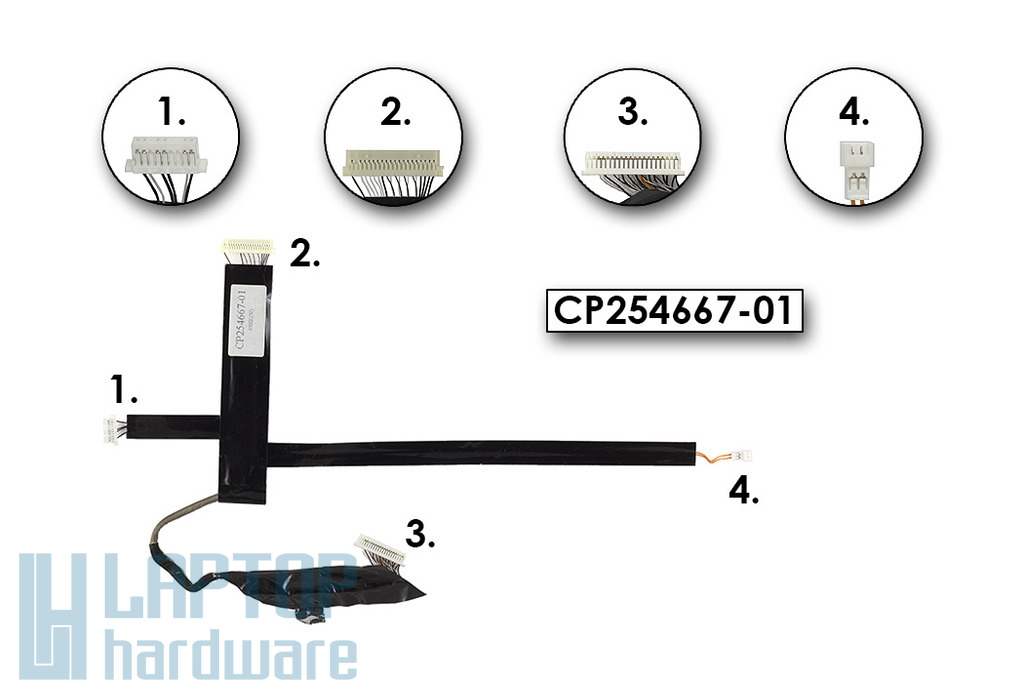 Fujitsu Siemens Lifebook P7120 laptophoz használt LCD kábel, CP254667-01