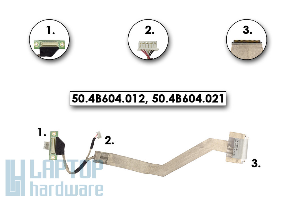 Fujitsu-Siemns Amilo Li1718 laptophoz használt LCD kábel 50.4B604.012