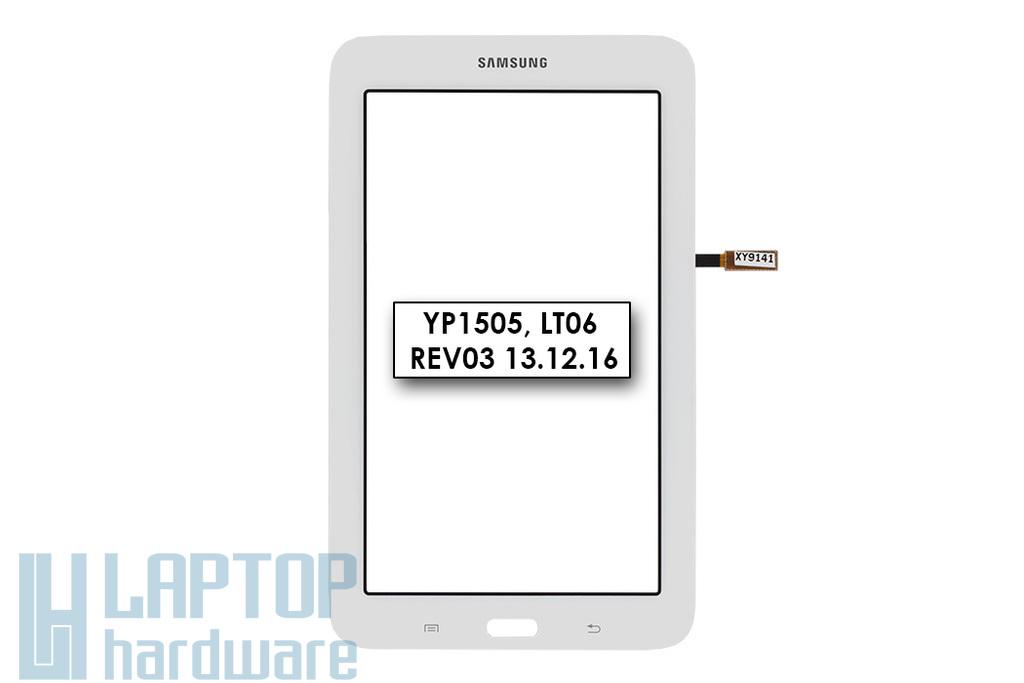 Érintő panel, touchscreen (fehér) Samsung Galaxy Tab 3 Lite (SM-T110) tablethez (YP1505)