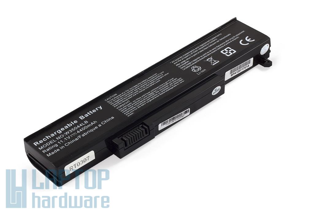 Gateway M-1400, P-6300, T-6800 helyettesítő új 6 cellás laptop akku/akkumulátor (SQU-715, SQU-720)