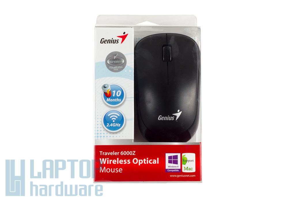 Genius Traveler 6000Z vezeték nélküli USB fekete optikai egér
