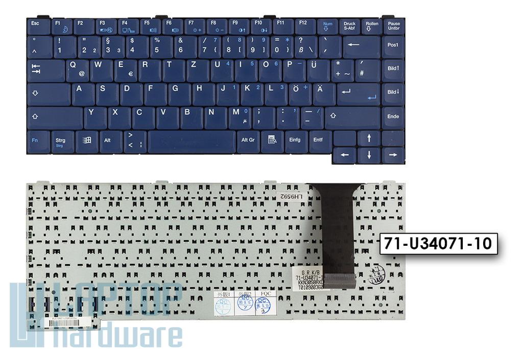 Gericom Webboy, Webgine, Portocom 340S2, 34AS1 használt német kék laptop billentyűzet (71-U34071-10, 71-002941-00)