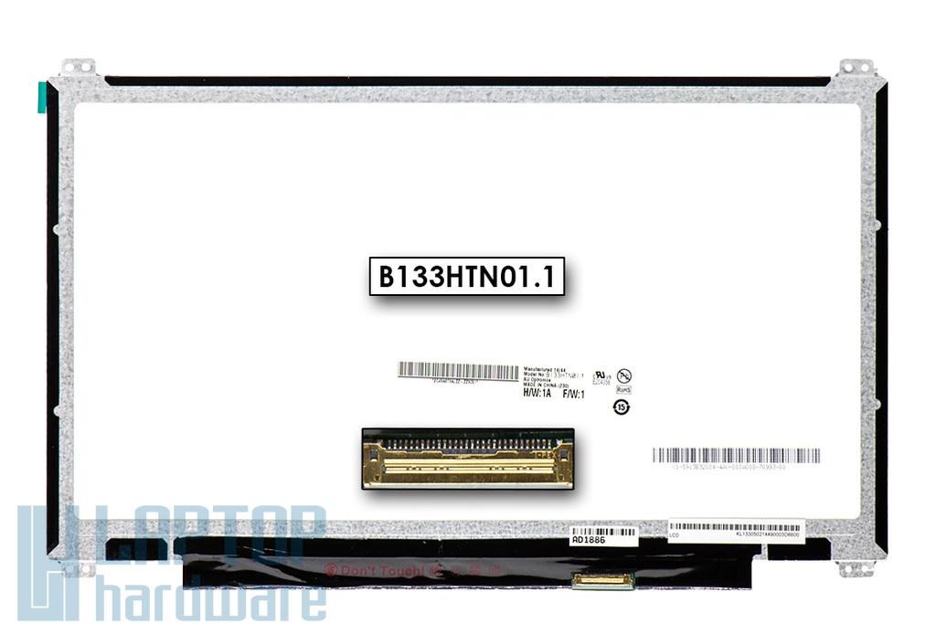 Gyári új matt 13.3'' Full HD (1920x1080) LED laptop eDP Slim kijelző (csatlakozó: 30 pin - jobb)