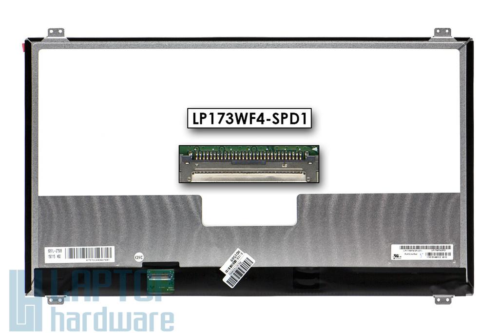 Gyári új matt 17.3'' Full HD (1920x1080) eDP LED IPS laptop Slim kijelző (csatlakozó: 30 pin - bal)