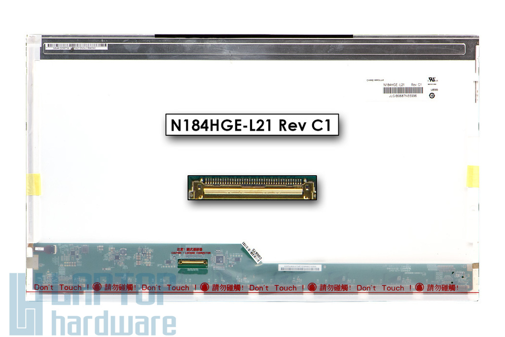 Gyári új matt 18.4'' Full HD (1920x1080) LED laptop kijelző (csatlakozó: 40 pin - bal)