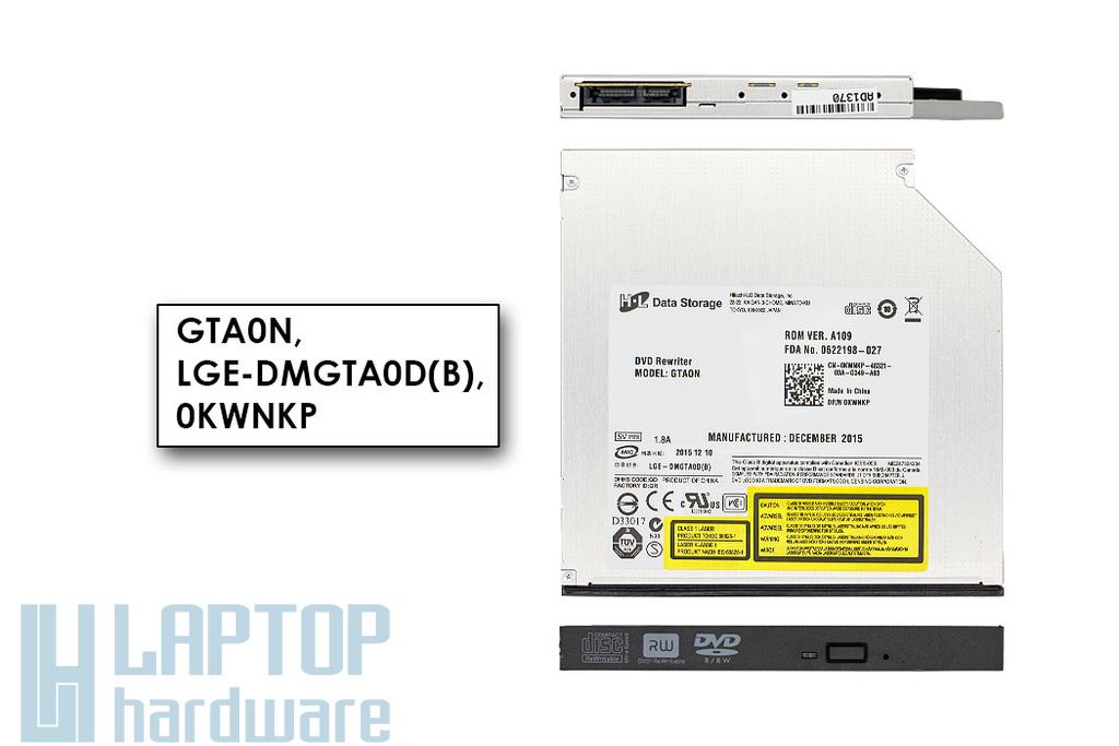 Gyári új SATA laptop DVD-író előlappal (12.7mm) (GTA0N)
