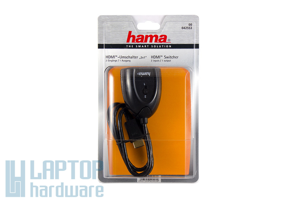 Hama 2 portos aranyozott HDMI elosztó, 00042553
