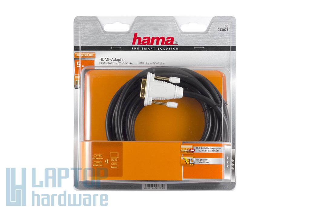 Hama DVI-D - HDMI átalakító kábel 5m, 043075