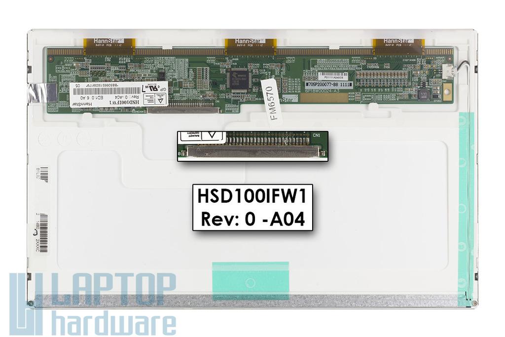 HannStar használt matt laptop kijelző (HSD100IFW1-A04)
