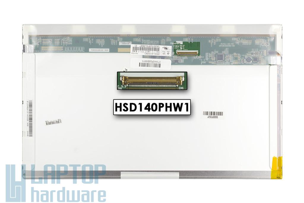 HanStar HSD140PHW1 14.0'' WXGA (1366*768) használt LED fényes laptop kijelző