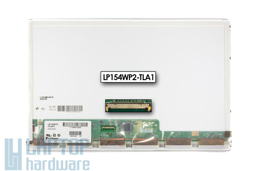 """Használt matt 15.4'' (1440x900) LED kijelző Apple MacBook Pro 15"""" A1226 laptophoz (csatlakozó: 40 pin - bal) (LP154WP2-TLA1)"""