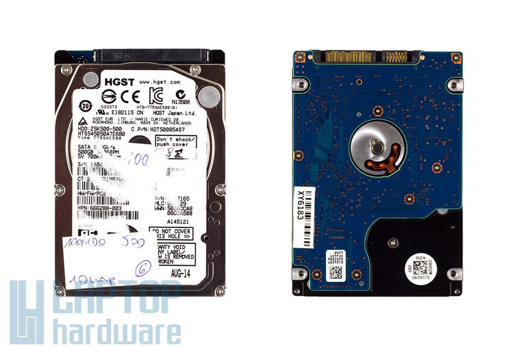 Hitachi 500GB használt laptop SATA3 winchester (Z5K500-500)