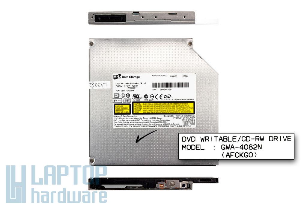 Hitachi-LG használt IDE (PATA) laptop DVD-író (GWA-4082N)