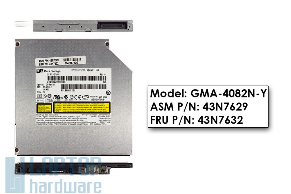 Hitachi-LG használt laptop IDE DVD Író GMA-4082N-Y