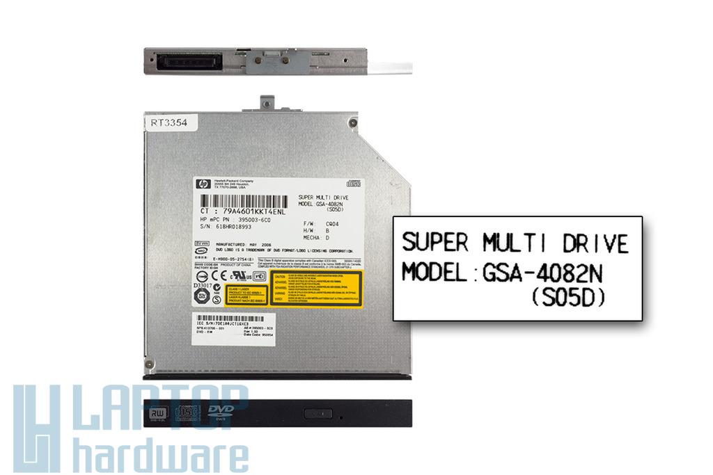 Hitachi-LG IDE (PATA) használt laptop DVD-író (GSA-4082N, 413700-001)