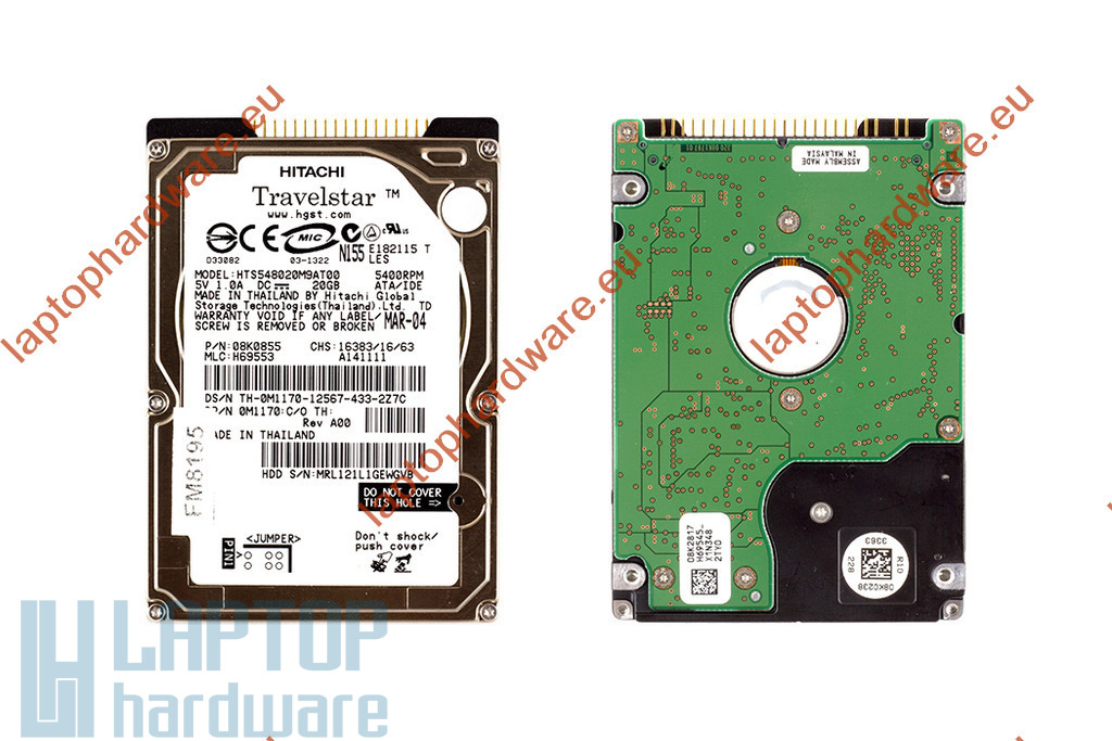 20GB 4200RPM 2,5'' IDE (PATA, Ultra ATA/100) használt laptop winchester, HDD