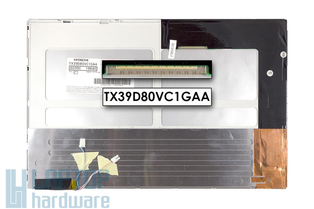Hitachi TX39D80VC1GAA WXGA 1280x800 használt fényes 2 CCFL laptop kijelző
