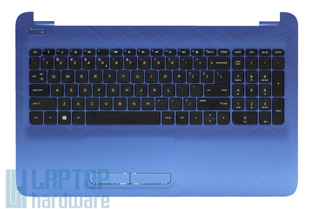 HP 15-AC, 15-AF, Pavilion 17Z-G100 sorozatú laptophoz gyári új kék UK angol billentyűzet modul touchpaddal (813978-B31)