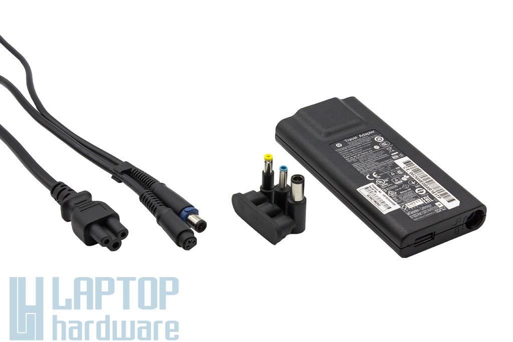 HP 19.5V 3.33A 65W (5V 1.5A USB) gyári új laptop töltő (több csatlakozóval) (693716-001, 677776-003)