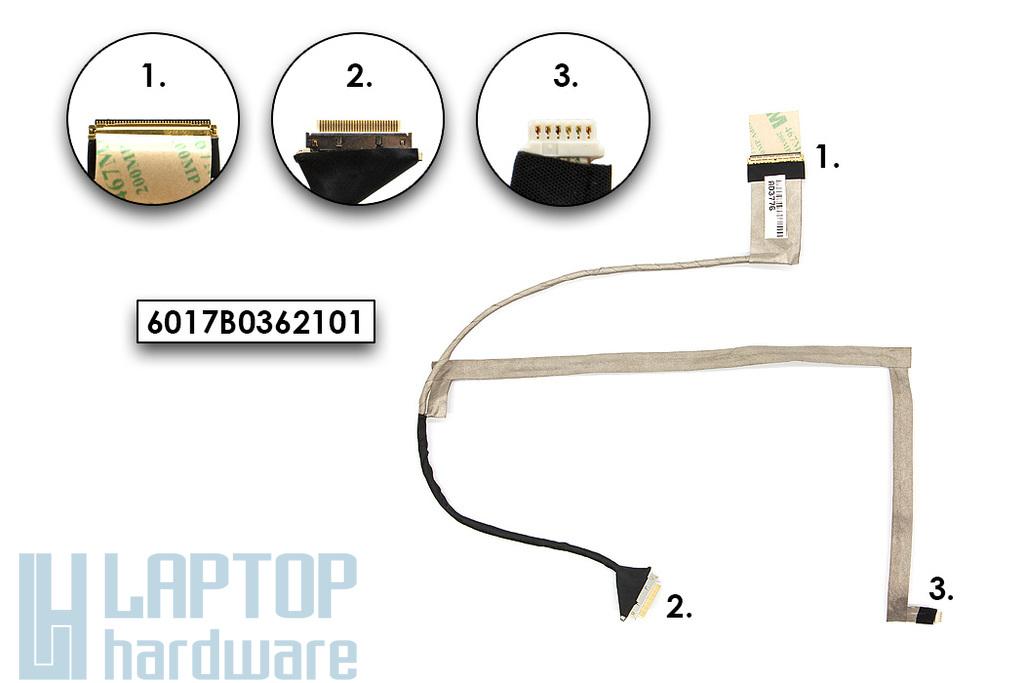 HP 240, 450, 2000 gyári új laptop kijelző kábel (685083-001, 6017B0362101)