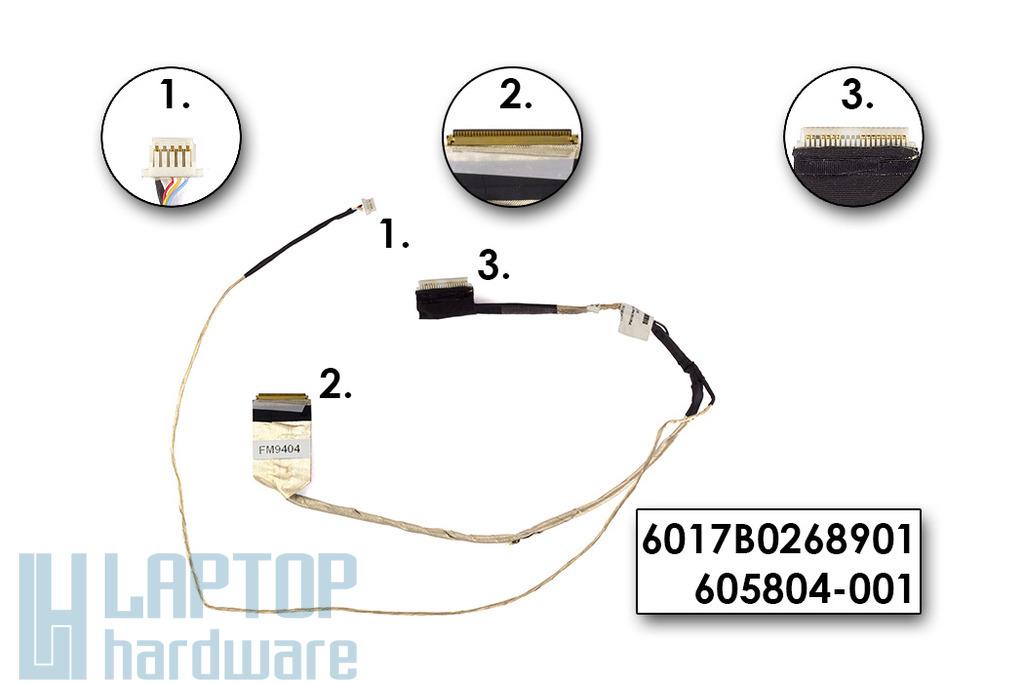 HP 420, 425, 620, 625 laptophoz használt Kijelző Kábel (6017B0268901)
