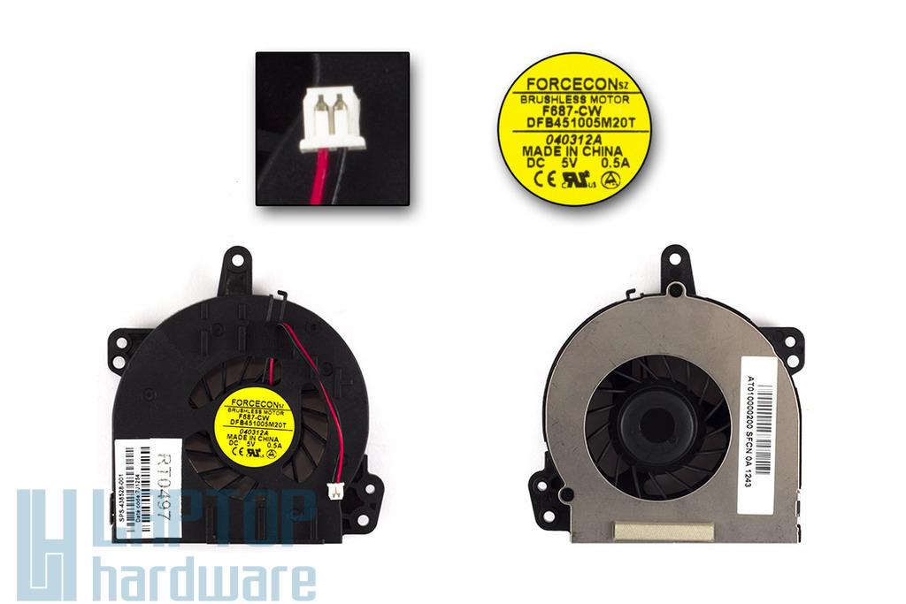 HP 500, 510, 520, 530 gyári új laptop hűtő ventilátor (F687CW, SPS 438528-001)