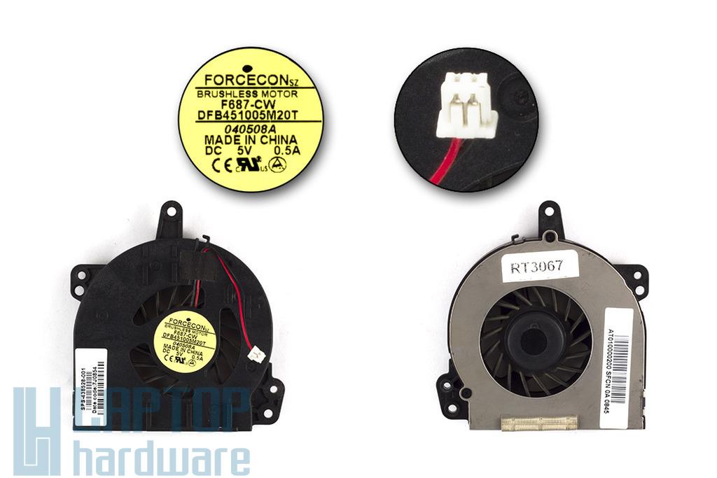 HP 500, 510, 520, 530 használt laptop hűtő ventilátor (F687CW)