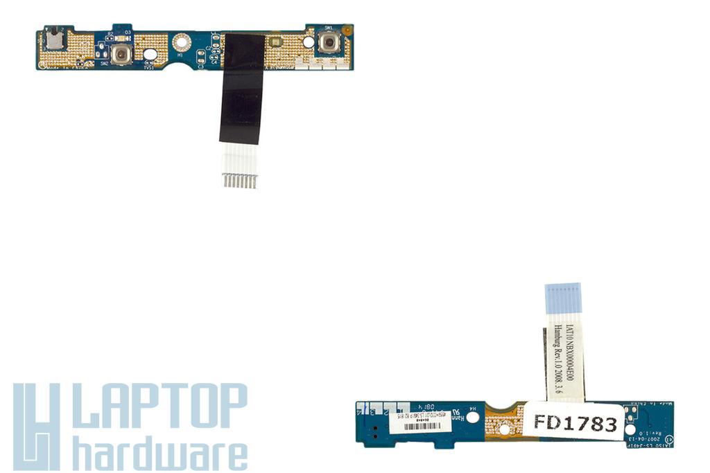 HP 530 laptophoz használt bekapcsoló panel szalagkábellel(NBX00004E00,4559H032L01)