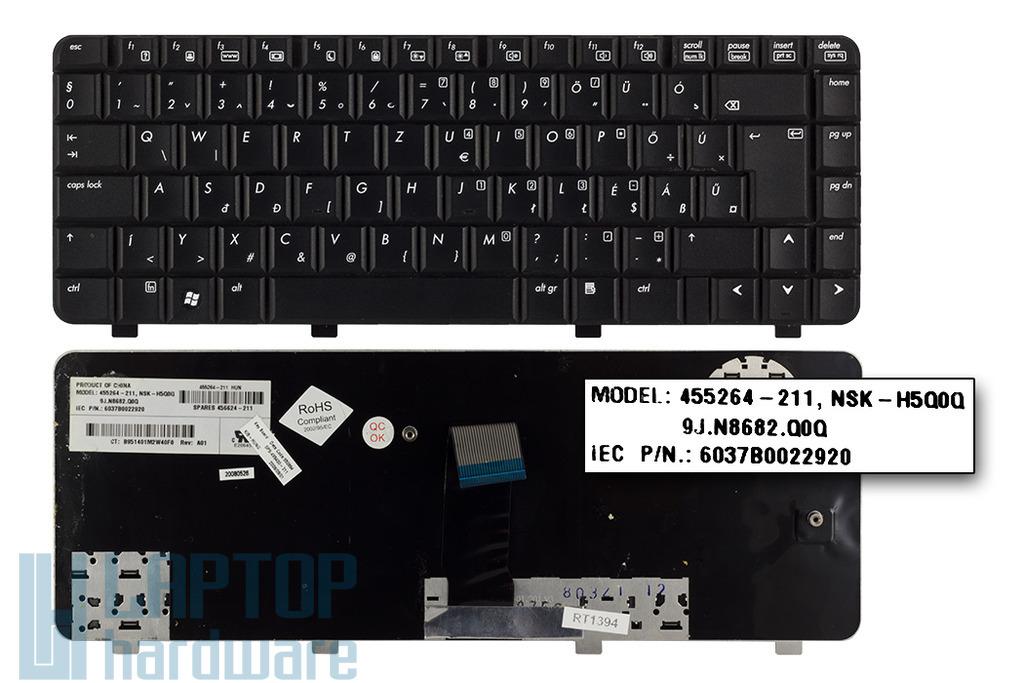 HP 550, 6520, 6520s, 6720, 6720s használt magyar laptop billentyűzet (455264-211)