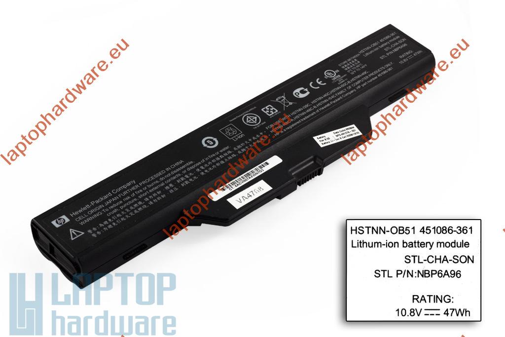 HP 550, 6720s, 6730s, 6820s, 6830s használt gyári 6 cellás 90%-os laptop akku/akkumulátor (491278-001)
