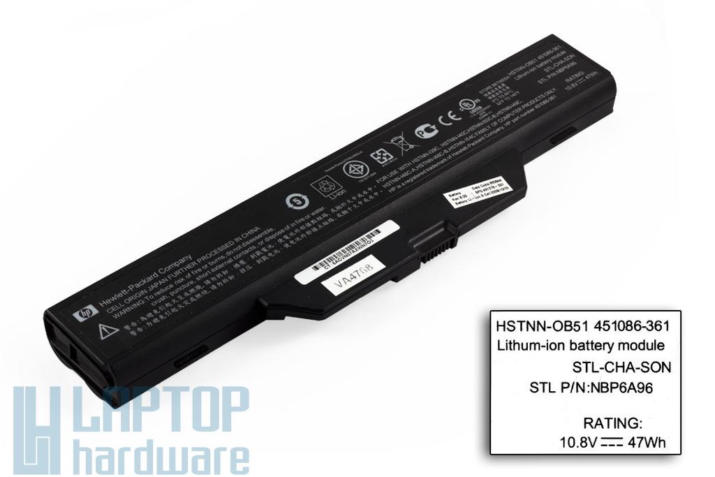 HP 550, 6720s, 6730s, 6820s, 6830s használt 6 cellás 75%-os laptop akku/akkumulátor (SPS 491278-001)
