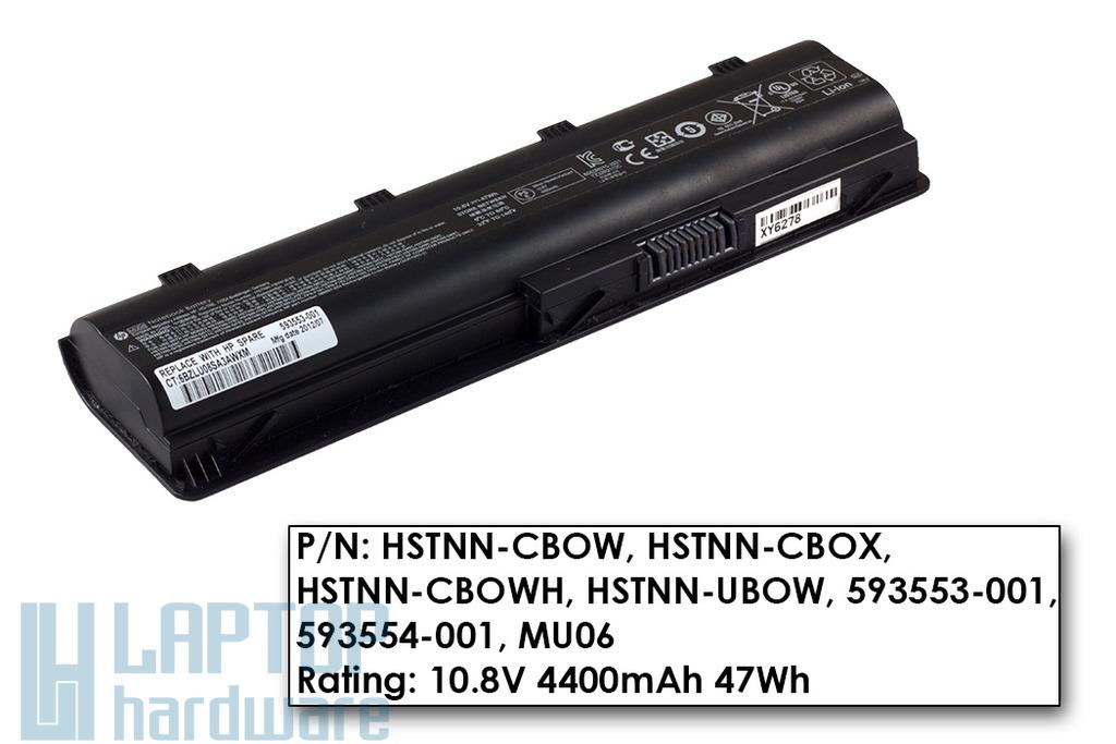 HP 630, 635, Compaq Presario CQ42, CQ56, CQ62 használt 80%-os 6 cellás gyári laptop akku/akkumulátor (593554-001)