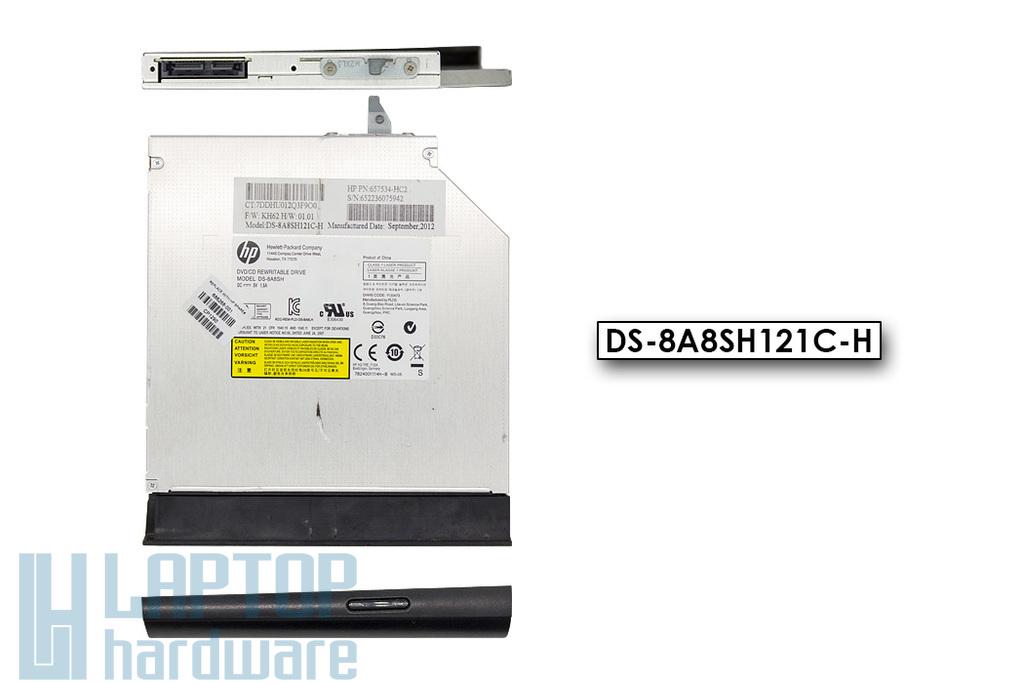 HP 650, 655, Compaq Presario CQ58 használt laptop DVD író előlappal (DS-8A8SH ,686268-001)