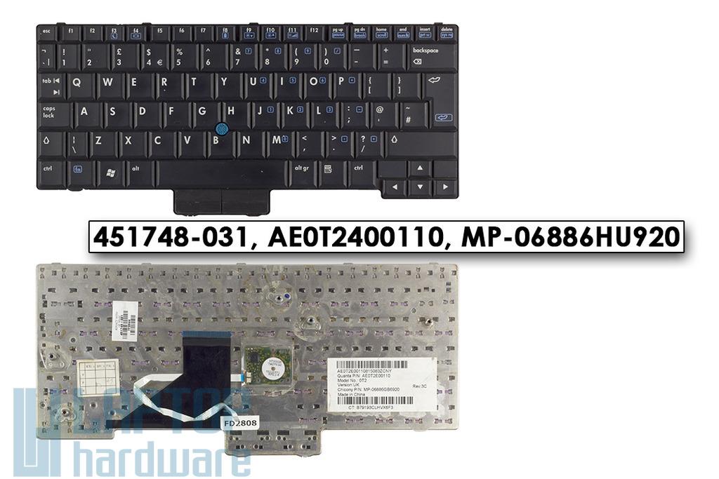 HP Compaq 2510p, 2530p, EliteBook 2530p használt UK angol laptop billentyűzet SPS 451748-031