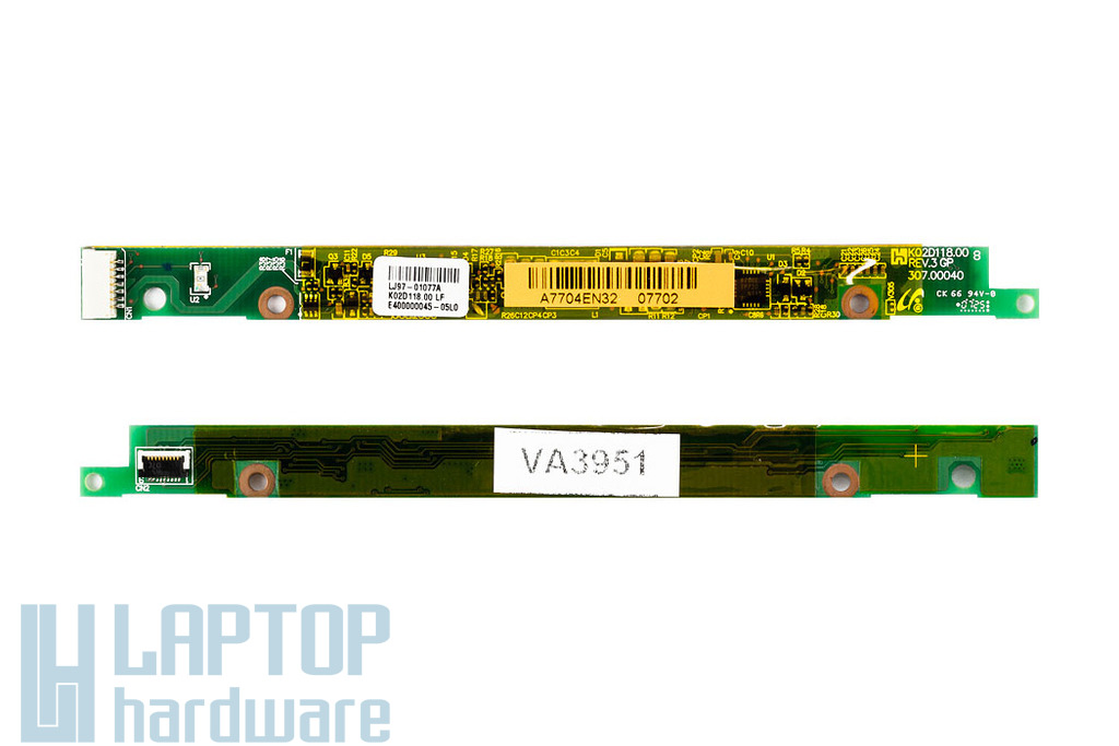 "HP Compaq 2510p használt LCD kijelző inverter (12,1""), K02D118.00 LF"