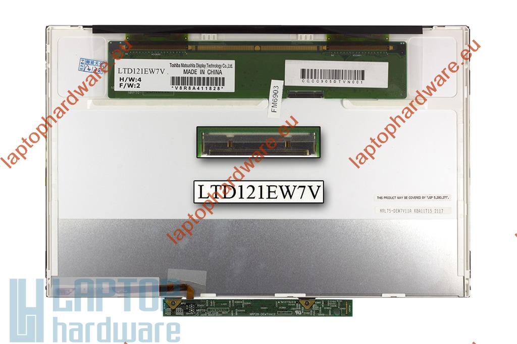 HP Compaq 2510p, 2530p használt matt laptop kijelző, LTD121EW7V