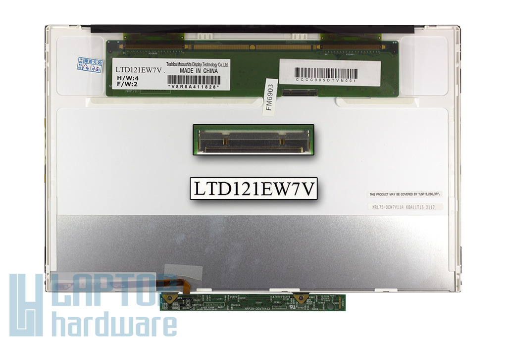 HP Compaq 2510p, 2530p (LTD121EW7V) gyári új matt laptop kijelző