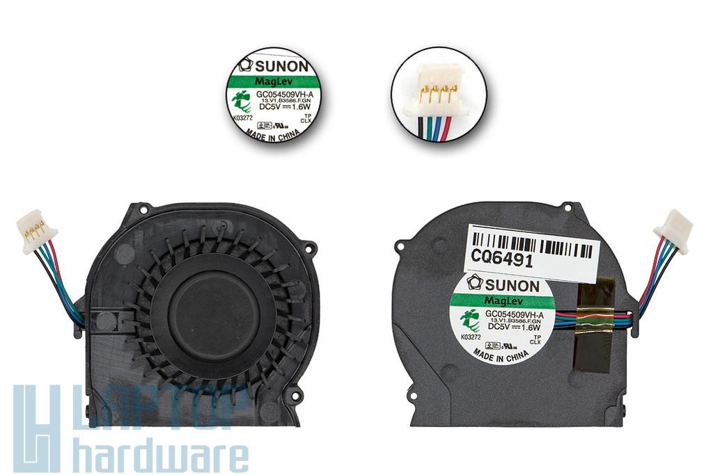 HP Compaq 2710p gyári új laptop hűtő ventilátor (4 Pin) (GC054509VH-A)