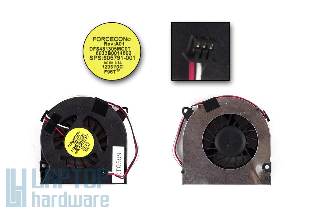 HP Compaq 320, 321, 420, 425, 620, 625 használt laptop hűtő ventilátor (SPS 605791-001)