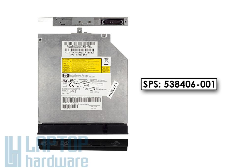 HP Compaq 515, 610, 615 használt SATA laptop DVD-író (SPS 538406-001)