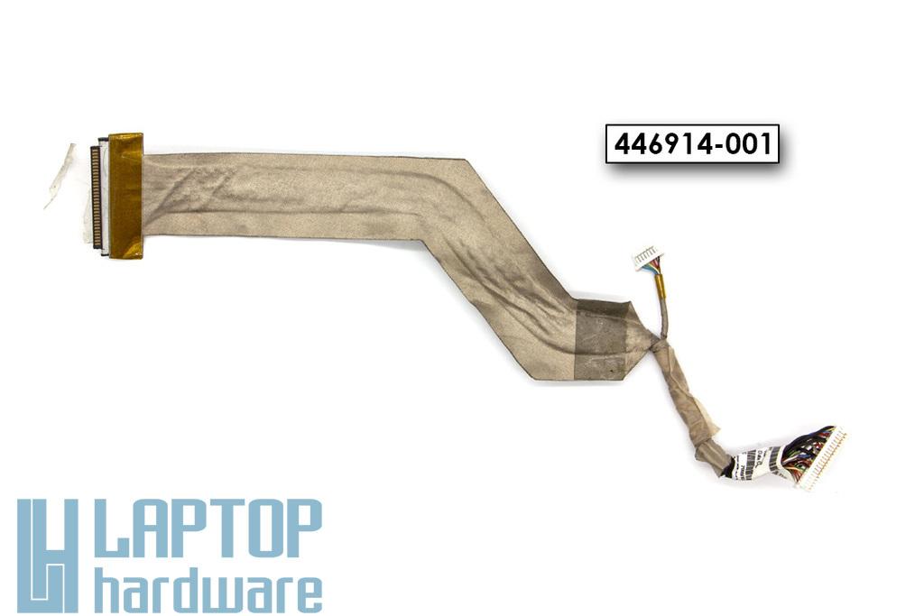 HP Compaq 6510b (WWAN-nal szerelt) laptophoz használt LCD kijelző kábel (14.1'') (446914-001)