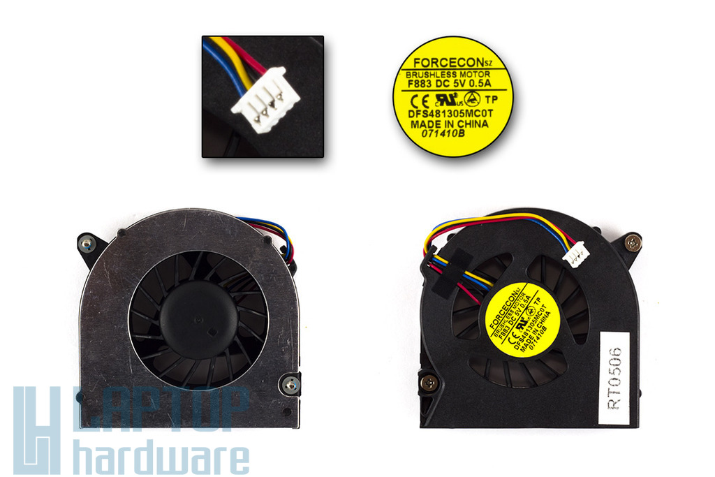 HP Compaq 6530b, 6535b, 6730b, 6735b gyári új laptop hűtő ventilátor (SPS-486288-001)