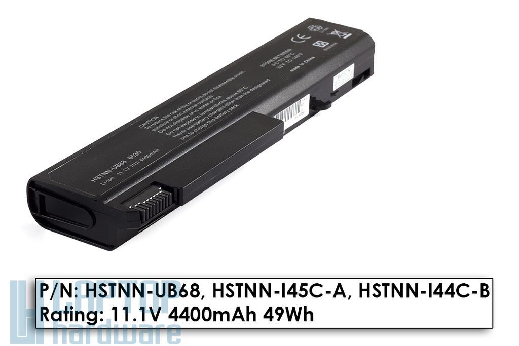 HP Compaq 6530b, 6535b, 6730b, 6735b helyettesítő új 6 cellás laptop akku/akkumulátor (HSTNN-UB68)