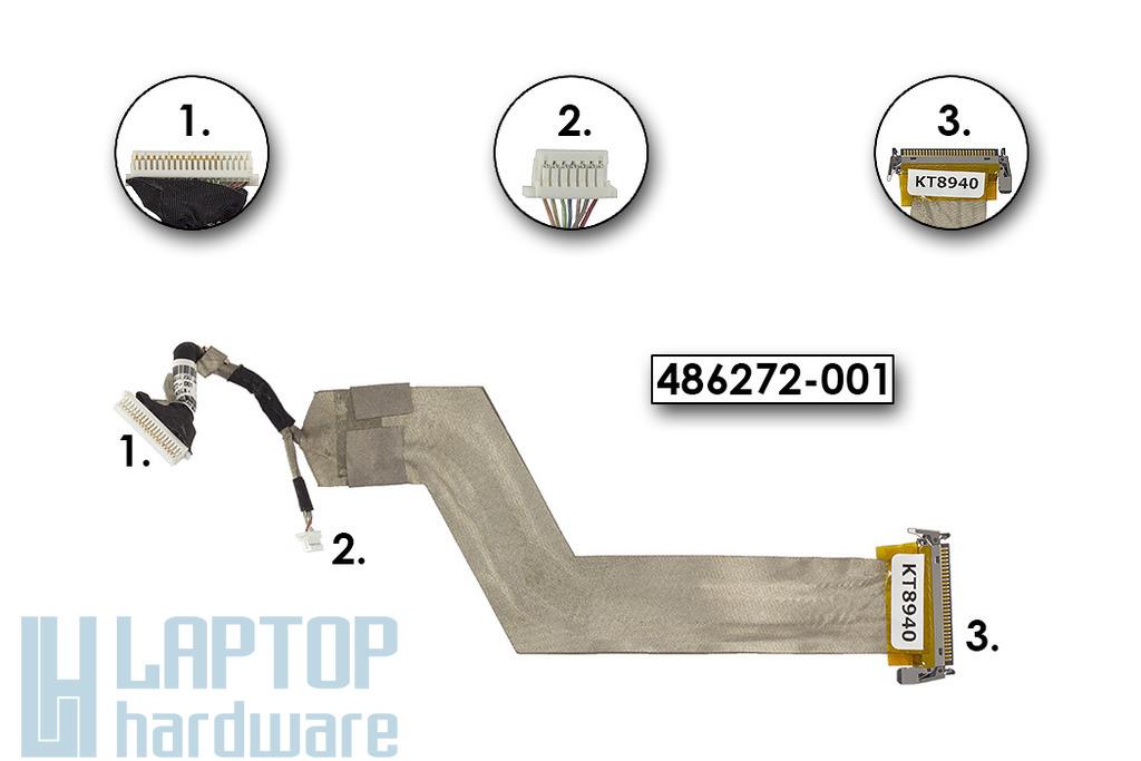 HP Compaq 6530b használt LCD kijelző kábel (SPS 486272-001)