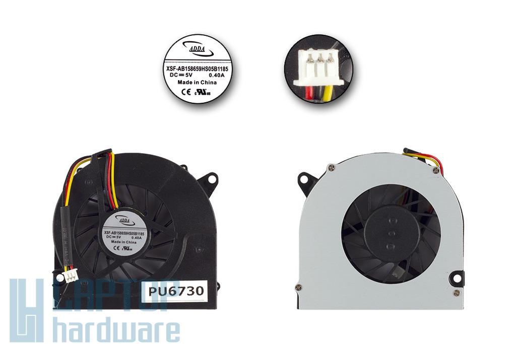 HP Compaq 6530s, 6535s, 6735s gyári új laptop hűtő ventilátor (AB158659HS05B1185)