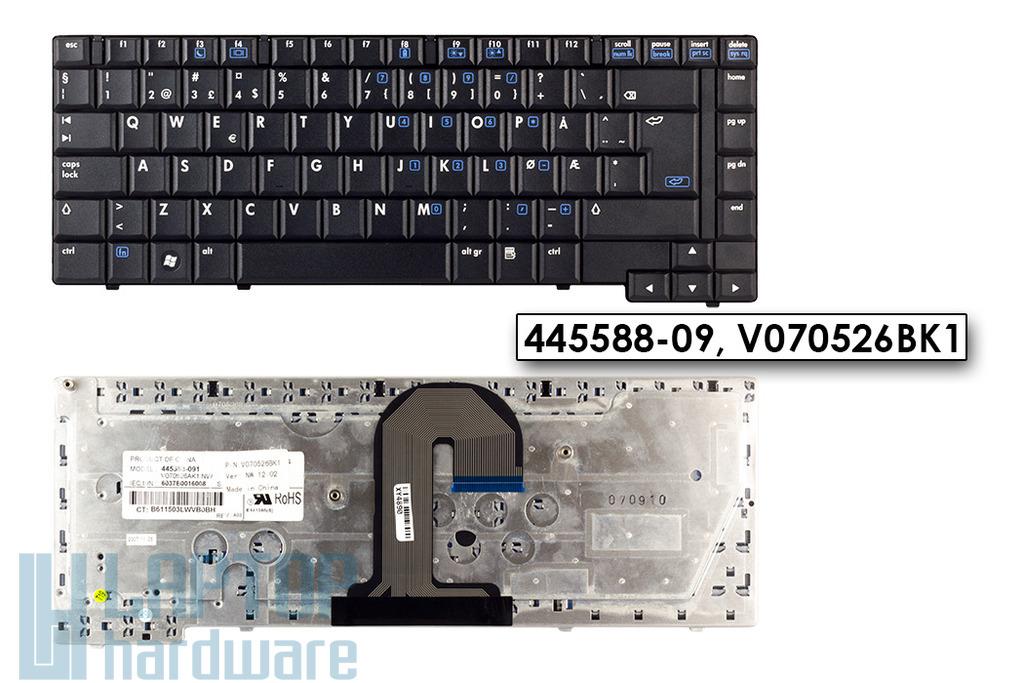 HP Compaq 6710b, 6710s, 6715s gyári új norvég laptop billentyűzet (445588-091)
